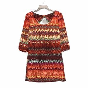 Lily Rose Watercolor Ikat Printed tunic small